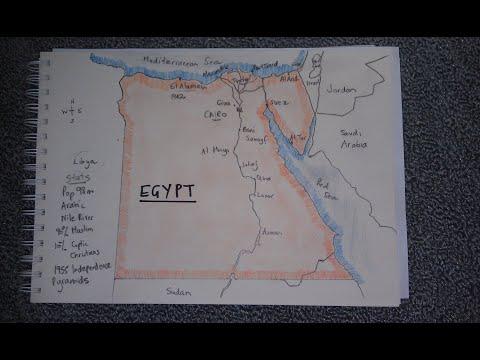 ASMR - Map Of Egypt - Australian Accent - Chewing Gum \u0026 Describing In A Quiet Whisper