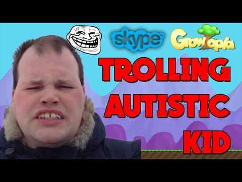 Growtopia | SCAMMING AUTISTIC KID [Gone Terrible] [Skype]