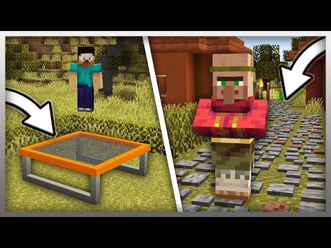 ✔️ NEW Trampolines & Paths In Minecraft! (Furniture Mod Update)
