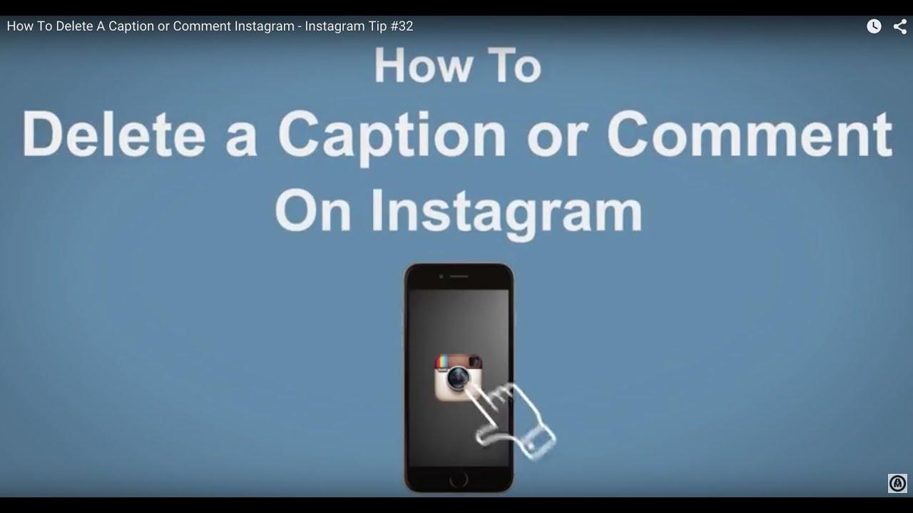 DELETE INSTAGRAM COMMENT IPHONE - Delete Instagram Account