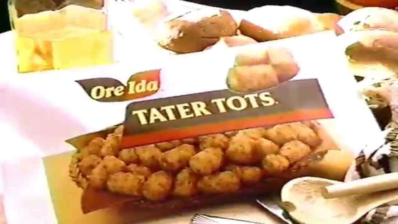 ore-ida tater tots commercial - 1988 by