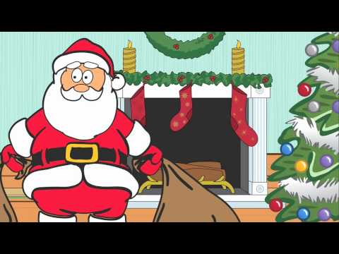 Dancing Santa Claus Cartoon