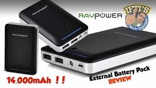 ravpower deluxe 14 000mah portable battery charger review iphone android nexus gopro