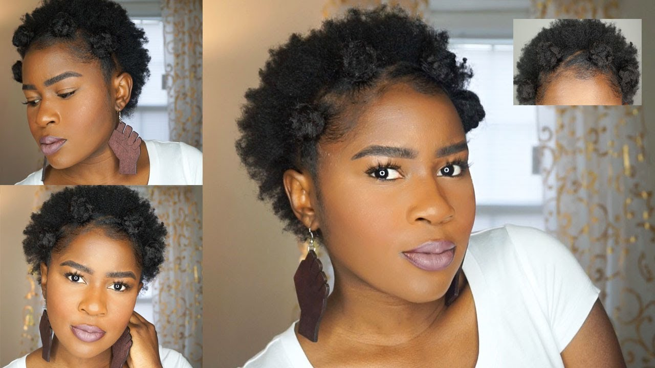 How To Do Thick Bantu Knots On Super Short 4c Natural Hair Mona B
