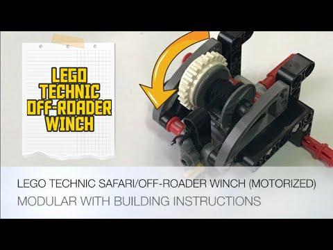 LEGO Technic Safari/Off-Roader Winch (Modular & Motorized) - W/ Building Instructions