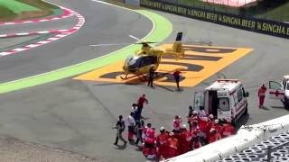Luis Salom Rider Moto 2 Meninggal saat kecelakaan Free Practise di GP Catalunya (HD)