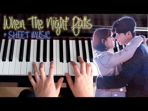 When Night Falls Piano Eddy Kim While You Were Sleeping OST1 당신이 잠든 사이에  긴 밤이 오면 Sheet Music Tutoria