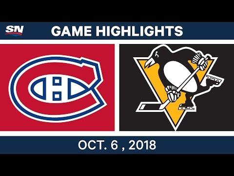 NHL Highlights | Canadiens vs. Penguins - Oct. 6, 2018