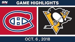 Nhl Highlights | Canadiens Vs. Penguins   Oct. 6, 2018
