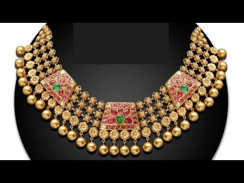Traditional Gold Colorful Jewellery Designs