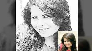 Beautiful girl drawing sketch ,,,