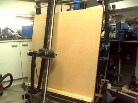 Vertical Cnc Router 3 Axis Tests Youtube