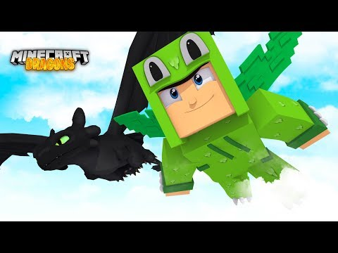 TEACHING THE DRAGONS TO FLY! - Minecraft Dragons