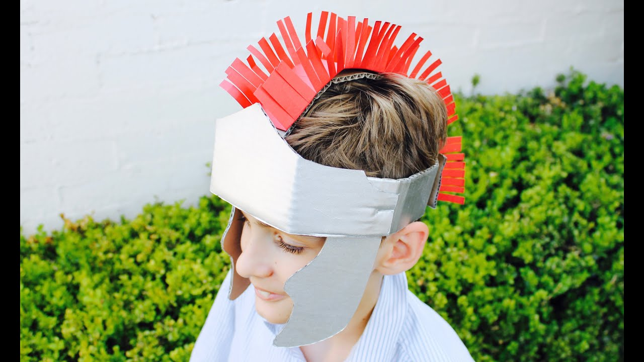Easy Craft How To Make A Gladiator Helmet YouTube - 8 fun activities for kids in rome