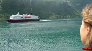 Norway, Geiranger to Hellesylt by ferry - Trip to Norwegian Fjords-part 29 -Travel,calatorii,vlog