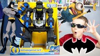 Batman Imaginext RC Transforming Batbot Minion Toys Trouble DC Super Friends
