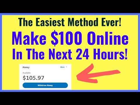 Make Money Online Fast And Free - Your First $100 In 24 HOURS! (EASY)
