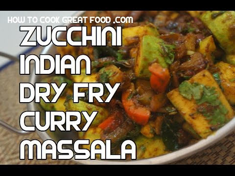 Zucchini Dry Fry Masala Recipe  - Indian Courgette Curry Video