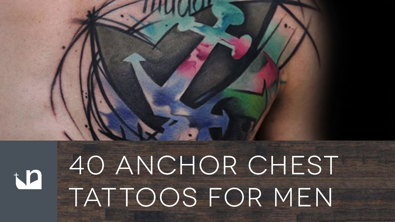 40 Anchor Chest Tattoos For Men