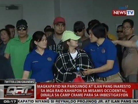 QRT: Magkapatid ng Parojinog at ilan pang inaresto sa mga raid kahapon, dinala sa Camp Crame