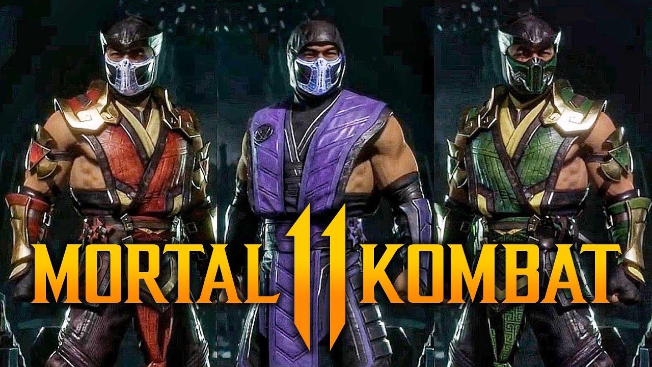 sub zero mortal kombat 11 characters