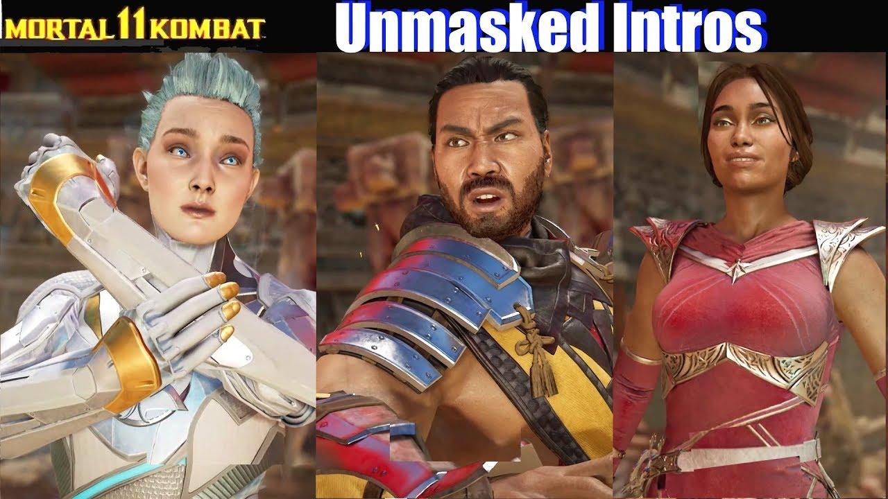 Mk11 Unmasked Intros Reaction Faces Mortal Kombat 11 Youtube