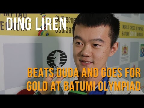 Ding Liren Beats Duda, Goes For Gold At Olympiad