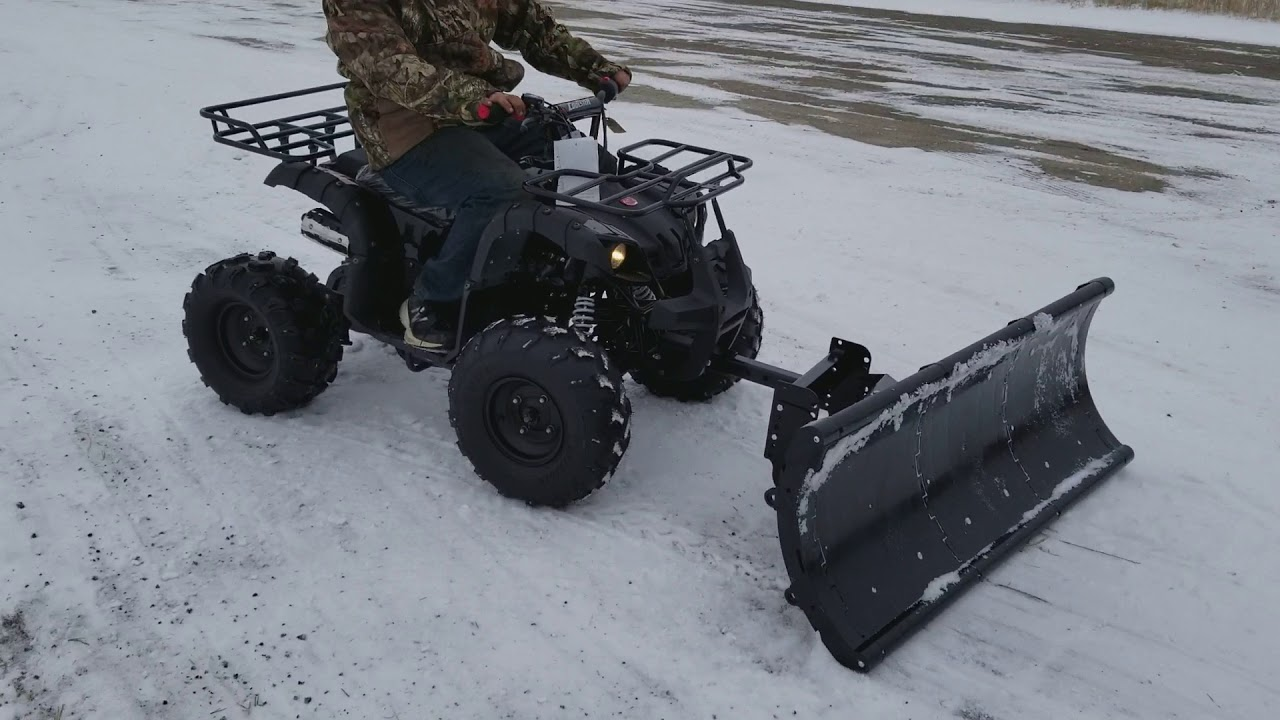 125cc Atv Four Wheeler With Snow Plow For Sale From Saferwholesale