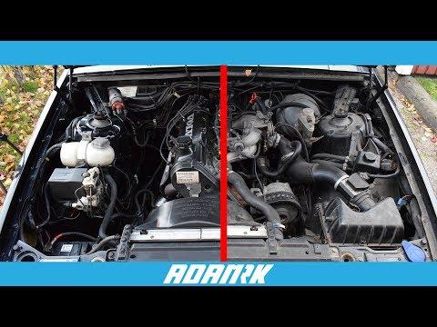 Super Clean Engine Bay on my Volvo 740 +Bmw detailing