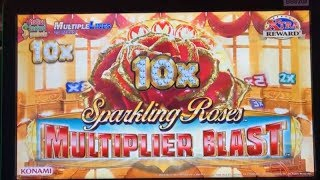★BIG WIN☆New ! SPARKLING ROSES MULTIPLIER BLAST Slot machine (Konami) ★Live play & Bonuses☆彡栗スロ/カジノ