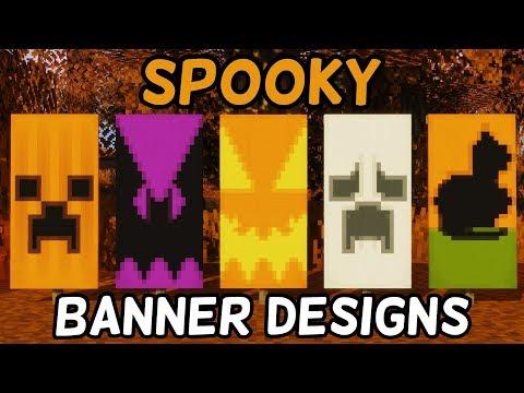 🎃5 Halloween Minecraft Banner Designs!🎃 (1.14+)