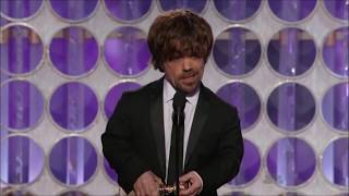 Peter Dinklage wins a Golden Globe for Game of Thrones 2012