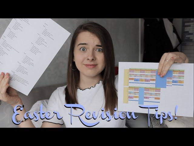HOW TO PLAN YOUR REVISION OVER THE EASTER HOLIDAYS! | Top Tips and Tricks to Boost Your Grades!