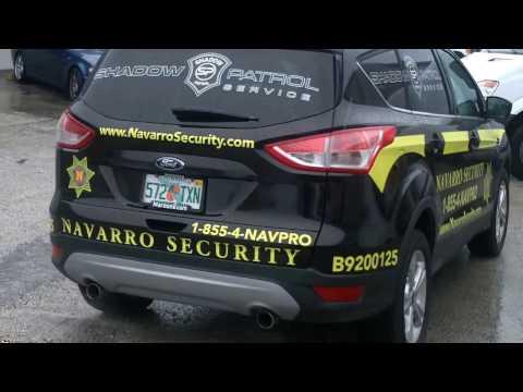 Security Patrol Vehicle Wrap Graphics Fort Lauderdale Florida