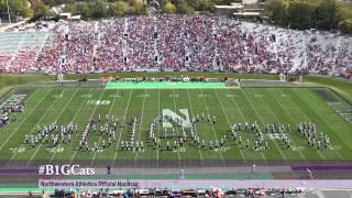 Northwestern Football vs. Indiana - NUMB Halftime with the #B1GCats Human Hashtag