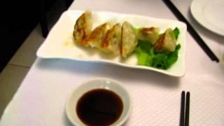 Raviolis au poulet au restaurant chinois l