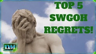 AVOID These Mistakes! My Top Five REGRETS In SWGOH!