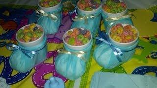 Como hacer zapatitos dulceros para cumpleaños o baby shower -tutorial