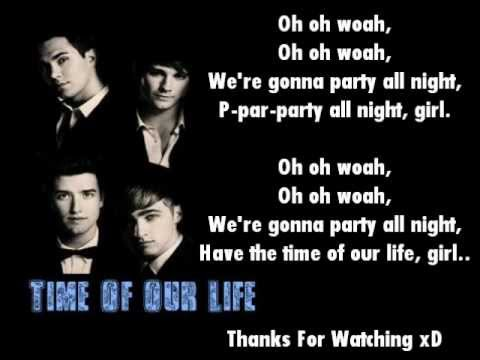 Big Time Rush- Time Of Our Life Lyrics On Screen