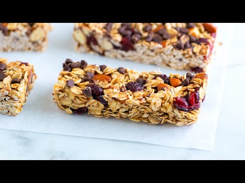 How to Make Soft and Chewy Granola Bars Homemade Granola Bar Recipe