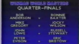 Bob Anderson vs Ronnie Baxter - 1988 Winmau Masters - QF - Part 1