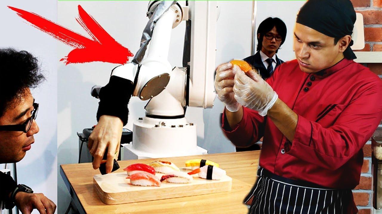 Эти Безумные Японцы!  История Суши Роботов! Обзор РОБОТОВ!