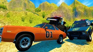 INSANE HIGH SPEED OFF ROAD POLICE CHASES AND GETAWAYS - BeamNG Drive Crash Test Compilation Gameplay