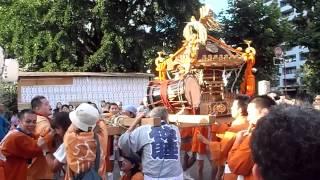 磐井神社祭禮 大人神輿連合渡御@磐井神社のとなり 2014年8月3日
