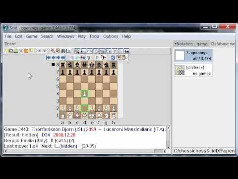 Learn Chess Openings with SCID Database