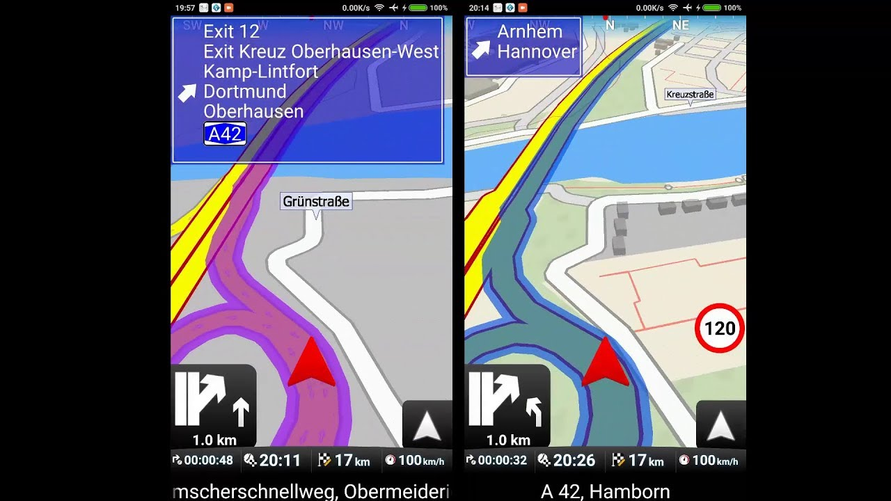 PART 2/5: TomTom Go Mobile vs  Mapfactor vs Navigon vs Sygic gps navigation  app 2018 Review