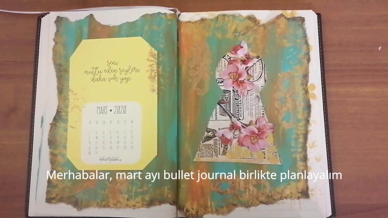 Akrilik Boya Ile Bullet Journal Yaptim Mart Ayi Planlayici