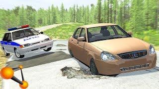 Погоня В РОССИИ За ТАЗАМИ - BeamNg Drive