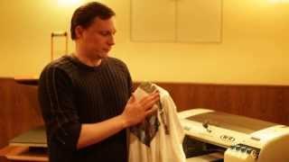 видео печать логотипов на одежде