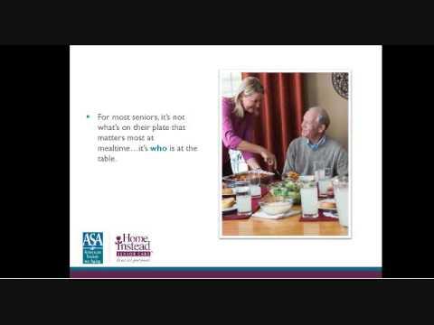 Senior Nutrition and Mealtime - Professional Caregiver Webinar